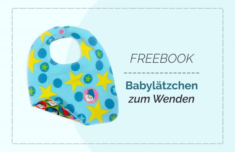 Kostenlose Nähanleitung Babylätzchen zum Wenden mit Schnittmuster zum Downloaden