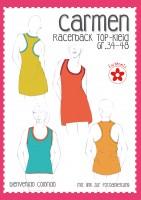 CARMEN, Racerback Shirt/Kleid, Papierschnittmuster