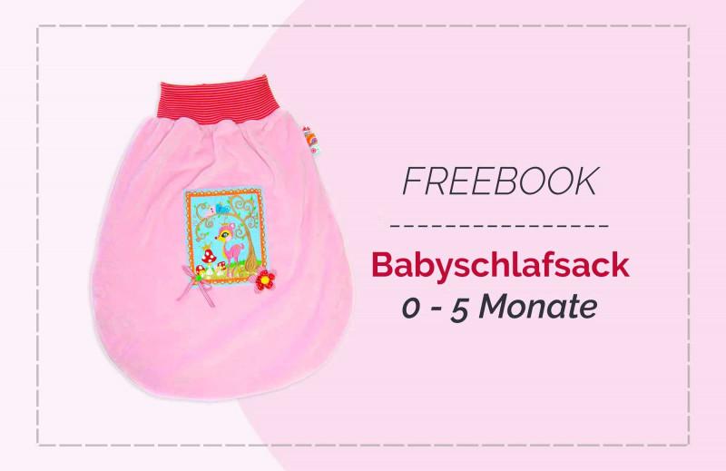 Kostenlose Nähanleitung Babyschlafsack Strampelsack für Neugeborene zum selber nähen