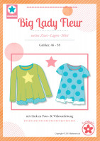 Big Lady Fleur, Plus-Size-Damenshirt, Schnittmuster