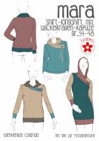 MARA, Damenshirt mit Wickelkragen, Schnittmuster