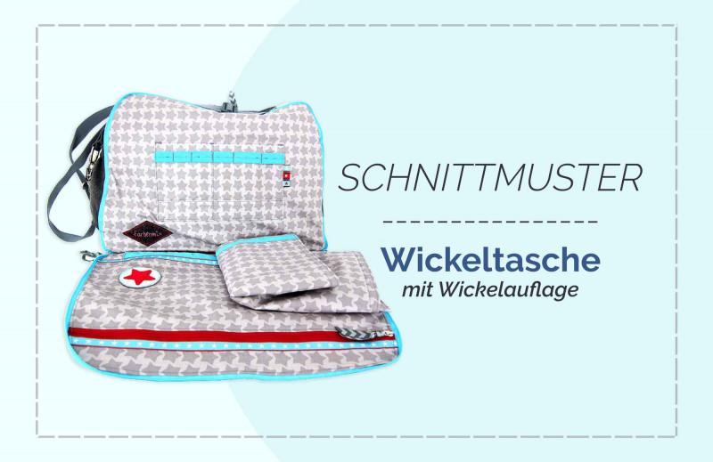 """Schnittmuster Wickeltasche """"AllesKönner"""" mit Wickelunterlage als Ebook oder Papierschnittbogen"""