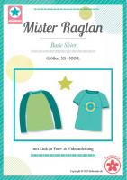 Mister Raglan, Herrenshirt mit Raglanärmeln, Schnittmuster