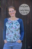 Lady Mary, Damen-Raglanshirt und Pulli, Schnittmuster