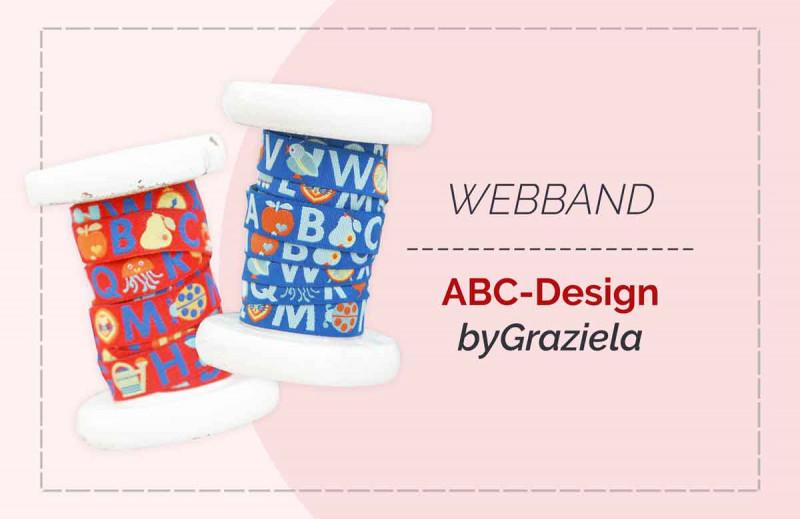 ABC Buchstaben Webband von farbenmix und byGraziela
