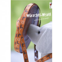 Würschtl-Wastl-Webband in orange, 3m-Stück