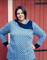 MARA XL, Plus-Size Wickelkragen-Shirt, Schnittmuster