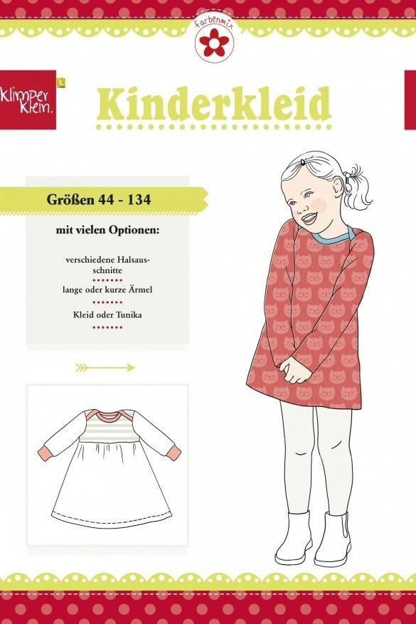 Jerseykleid Sweatkleid Schnittmuster von Klimperklein | farbenmix