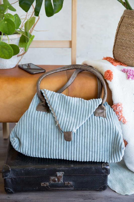 Seashell-Tasche vom Taschenspieler 5 aus Breitcord-Taschenstoff