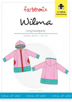 WILMA, Long-Sweatjacke, Schnittmuster