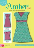 Amber Plus, Kleid mit Wickeloberteil, Papierschnittmuster