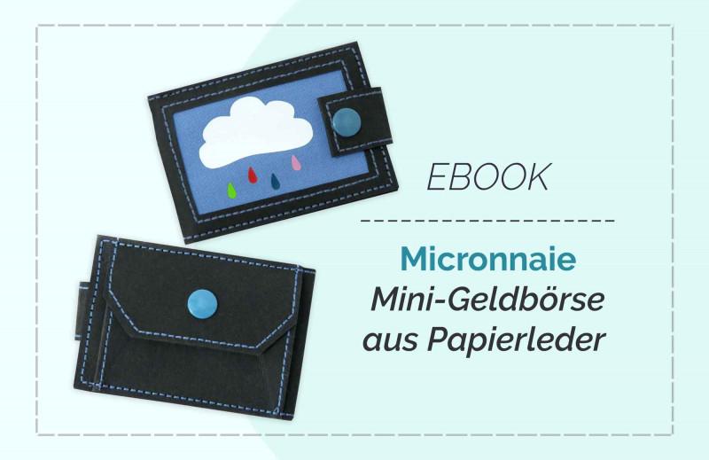 Schnittmuster kleines Portemonnaie Mini-Geldbörse für Kinder aus Snappap nähen