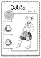 ODILIA, Ballonrock, Papierschnittmuster