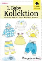 Schnittmuster-Set für Babys mit sechs Modellen Gr. 50/56 - 74/80