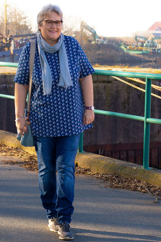 Blusenshirt Schnittmuster-Konzept Plus-Size Kurzarmbluse