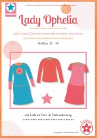 Lady Ophelia, Damenkleid und Shirt, Papierschnittmuster