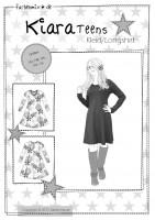 KIARA, Jerseykleid Teens, Papierschnittmuster