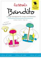 BANDITO Sweatjacke Papierschnittmuster