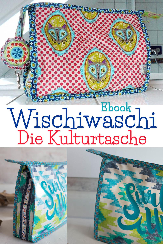 schnittmuster pdf kulturtasche wischiwaschi farbenmix. Black Bedroom Furniture Sets. Home Design Ideas