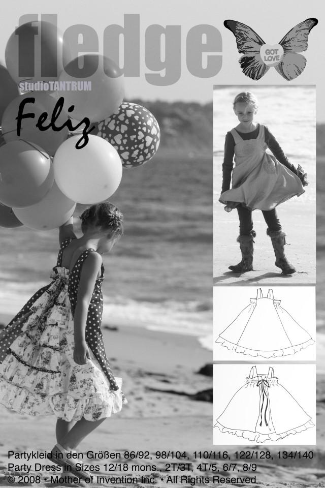 FeliZ, Festkleid, Papierschnittmuster