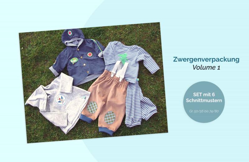 Zwergenverpackung 1 Schnittmuster Set für Babys