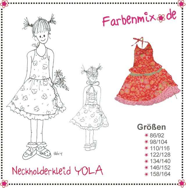 YOLA, Neckholderkleid, Papierschnittmuster | Kinderschnitte ...