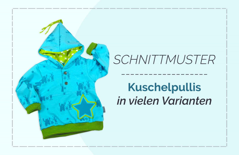 Baby Winterkleidung selber nähen Schnittmuster-Kollektion KuschelBasics farbenmix Zwergenverpackung