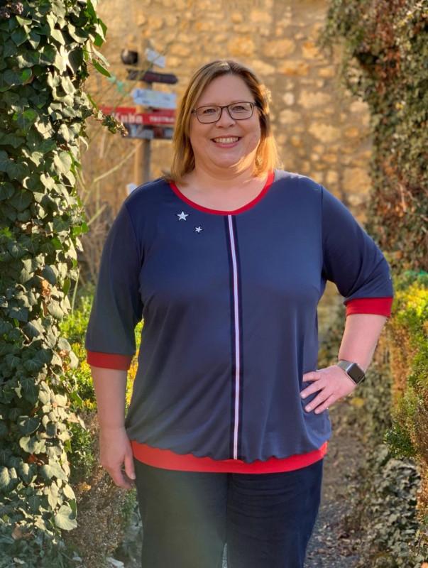 Big Size Damenshirt mit dreiviertel Ärmeln nähen