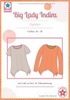 Big Lady Indira, Plus Size Zipfelshirt, Papierschnittmuster