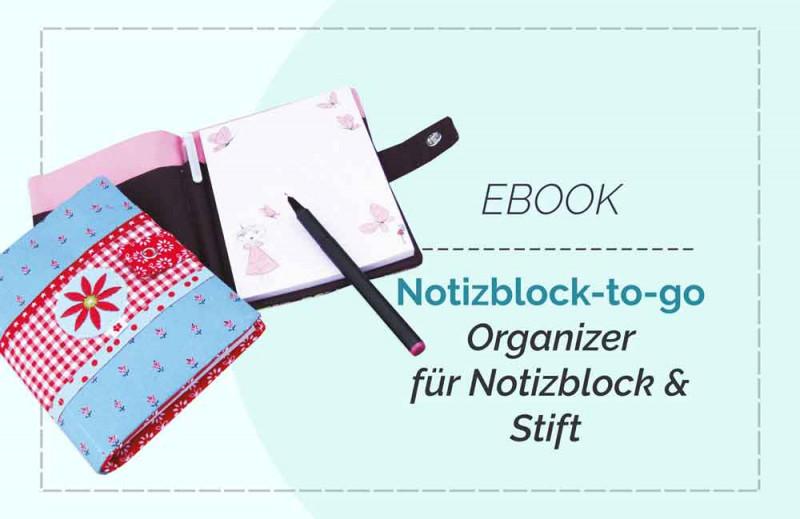 Ebook Notizblock Organizer mit Stifthalterung