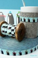 Pinguin Webband von farbenmix
