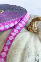 Graziela Blätter Webband von farbenmix in Pink