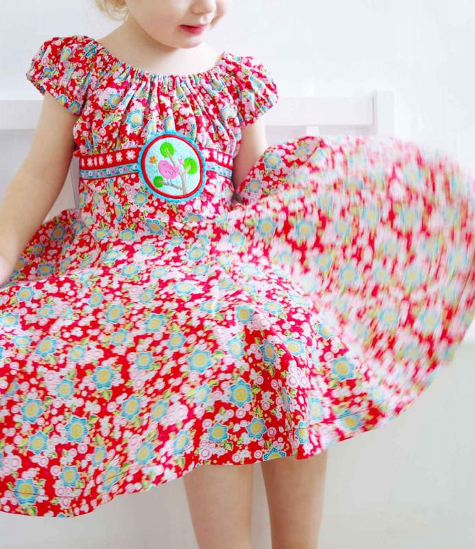 Schnittmuster für ein festliches Einschulungskleid zum Schulanfang