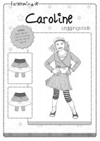 CAROLINE, Jerseyrock mit Leggins, Papierschnittmuster