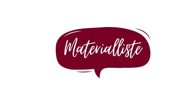 Materialliste JustBe Adventskalendertasche