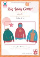 Big Lady Comet, Plus Size Hoodie, Papierschnittmuster