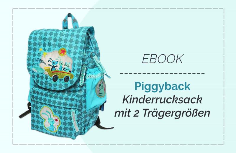 """Kinderrucksack Schnittmuster """"Piggyback"""" zum Downloaden"""