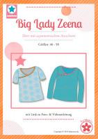 Big Lady Zeena, Plus-Size-Damenshirt, Papierschnittmuster