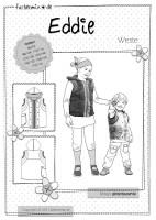 EDDIE, Kinder Kapuzenweste, Papierschnittmuster