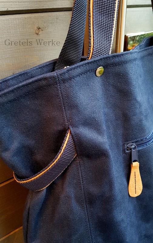 Detailfoto Einkaufstasche Schnittmuster farbenmix