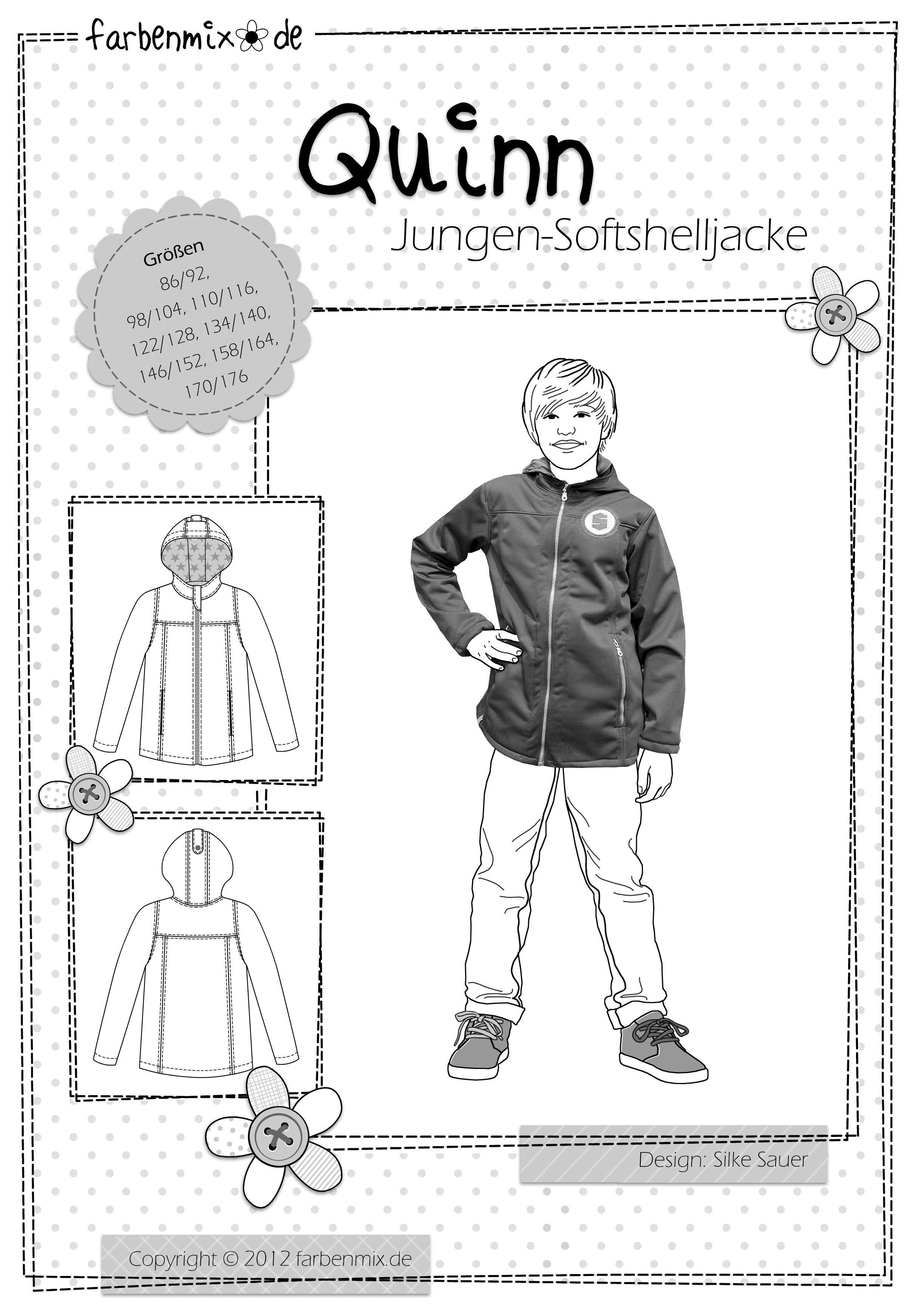 Softshell Jackenschnittmuster Quinn von farbenmix | farbenmix