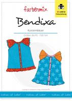 BENDIXA, Mädchen-Kurzarmbluse, Schnittmuster