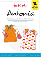 ANTONIA, Kombi-Shirt, Papierschnittmuster