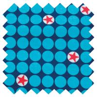 Bubble Mini Stars, blau, Popeline, 1m-Stück (Restmenge)