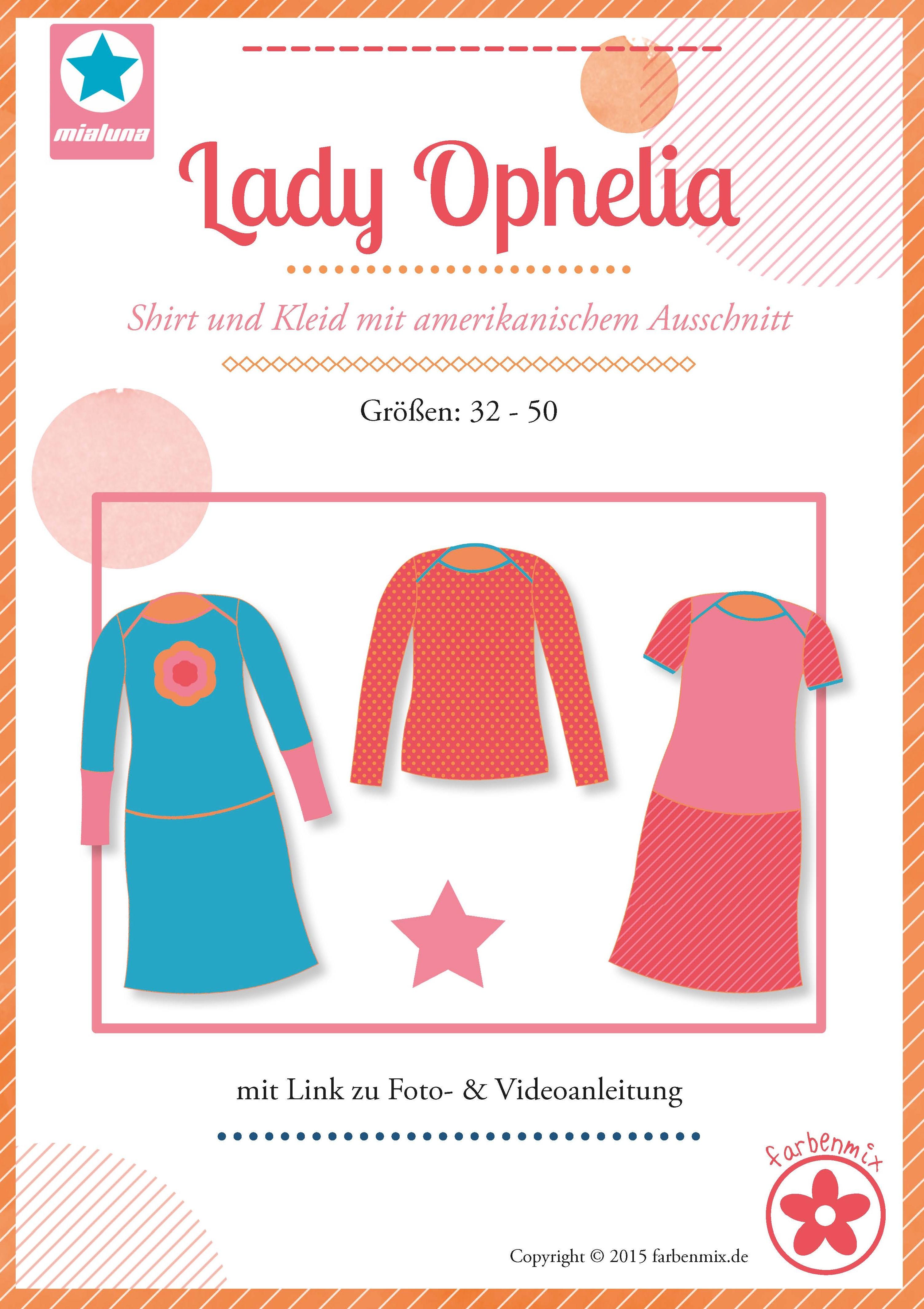 Damenkleid Schnittmuster von MiaLuna | farbenmix