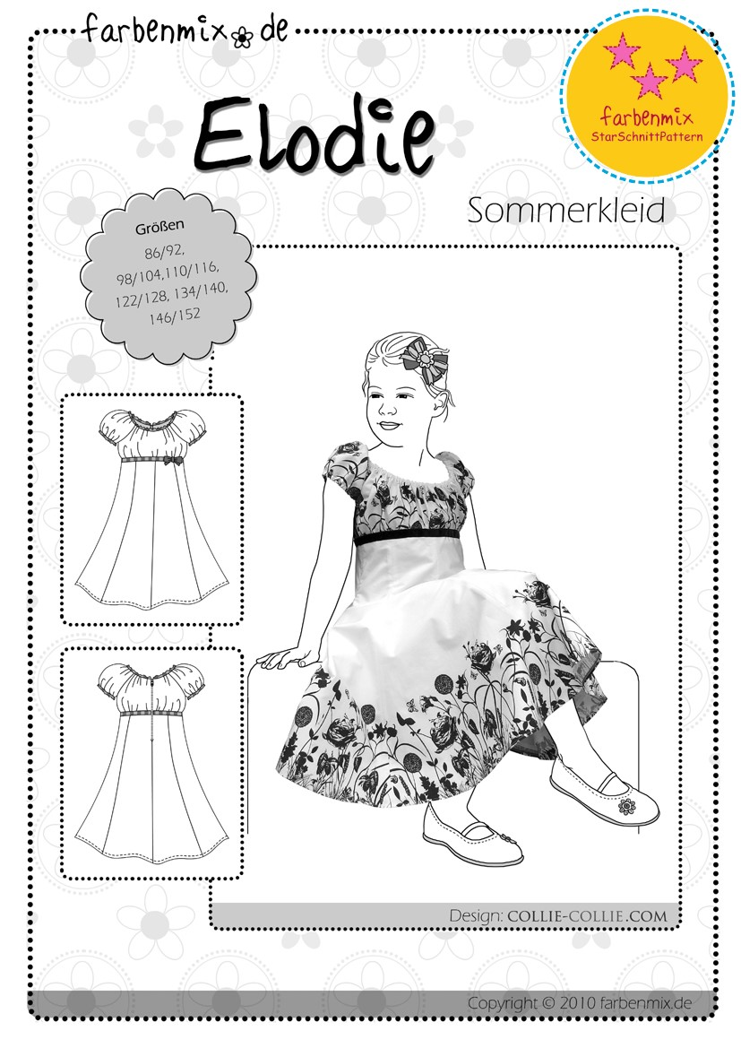 Schnittmuster kleid madchen 134