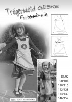 GESKE, Kinder-Trägerkleid, Schnittmuster