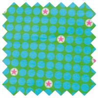 Bubble Stars, grün, Popeline, 1m-Stück (Restmenge)