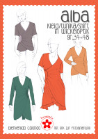 Alba, Damenkleid in Wickeloptik, Papierschnittmuster
