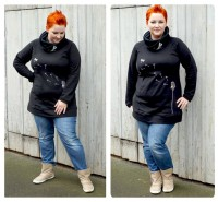 Big Lady Comet, Plus-Size-Hoodie, Schnittmuster
